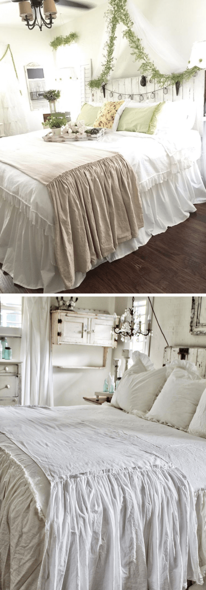 Shabby Chic Ruffled Bed Scarf