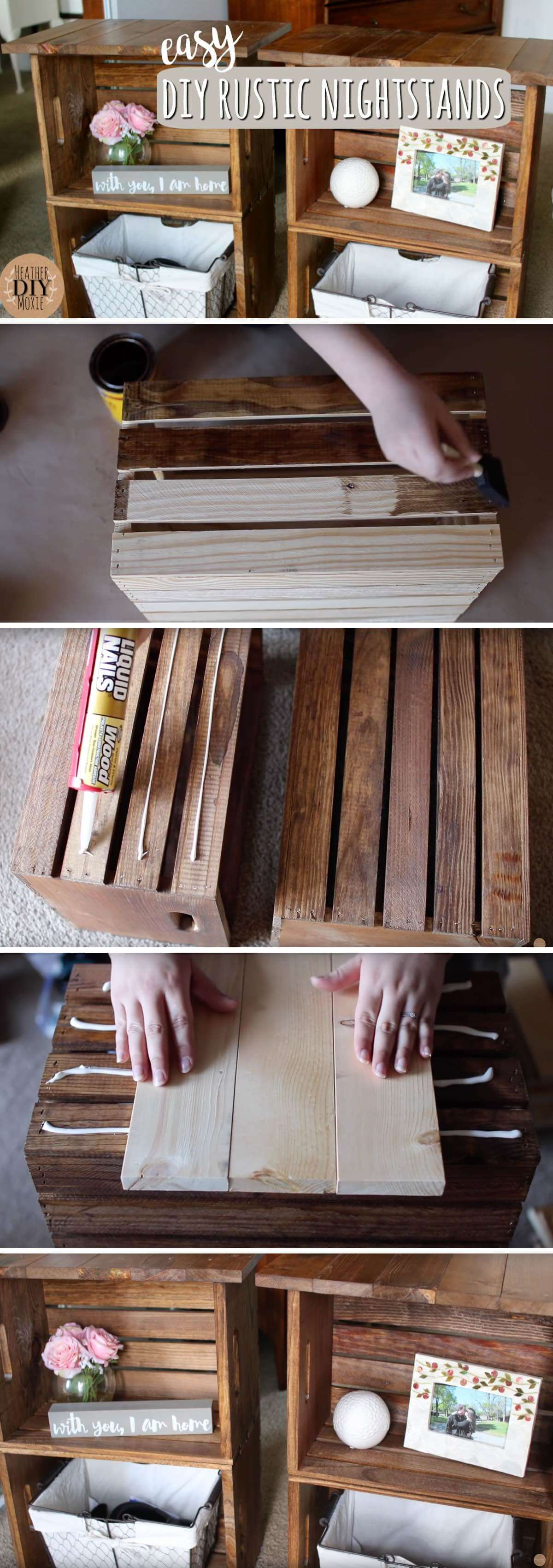 How to build a DIY Rustic Nightstands