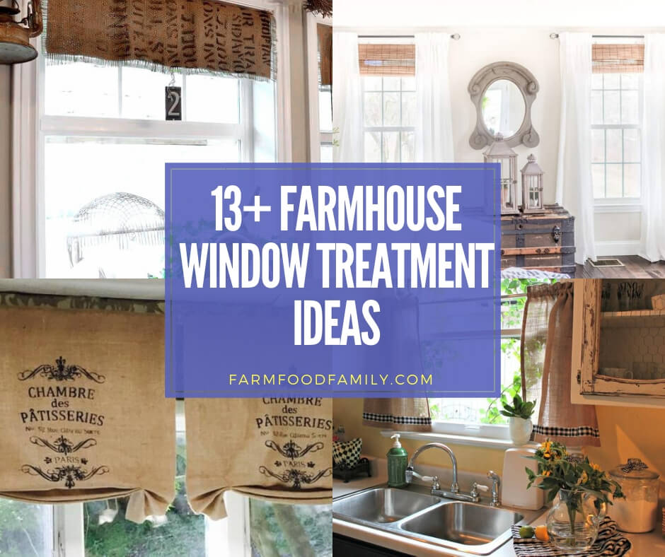 best farmhouse window treatment ideas