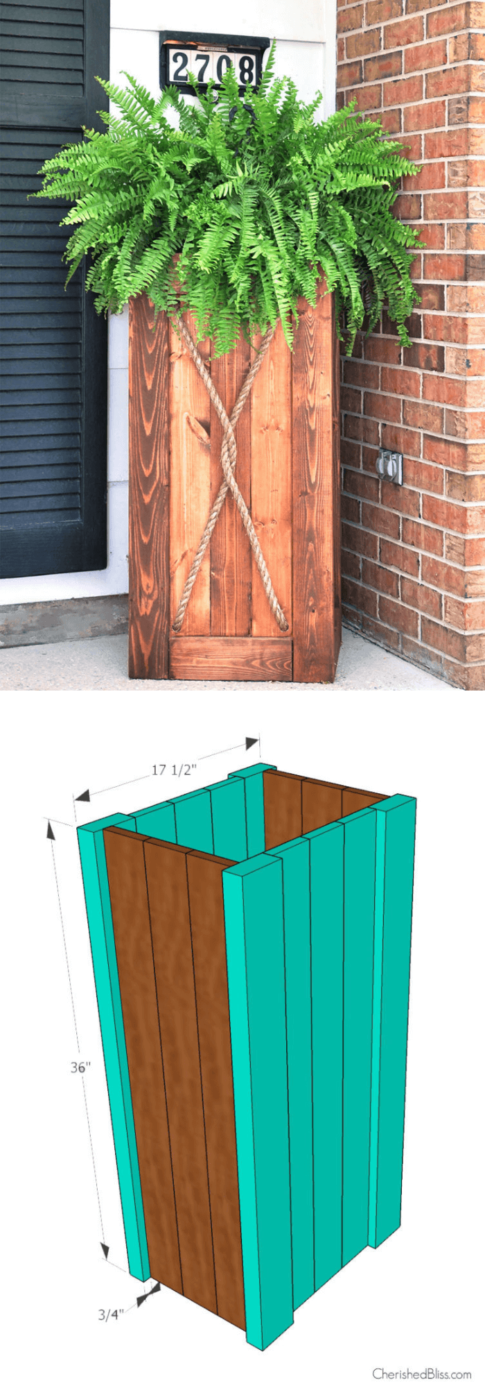 DIY Wooden Planter Plans
