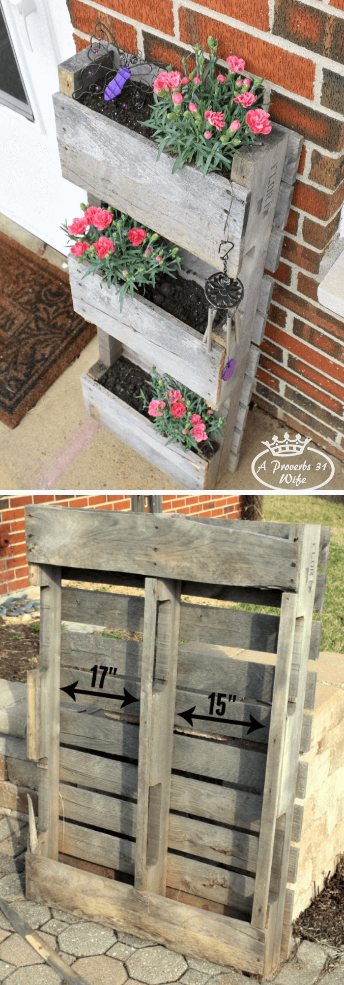 Pallet Planter for Butterflies