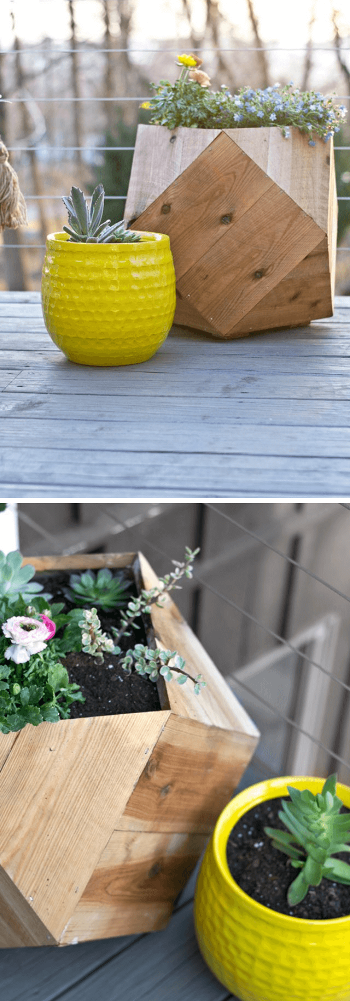 Geometric Planter Boxes for Your Patio