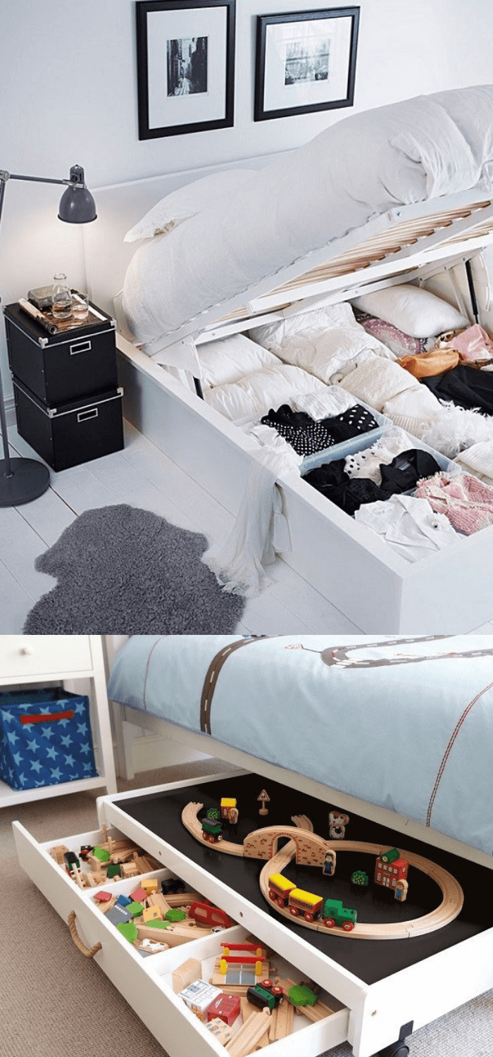 best bedroom organization ideas Space under the bed