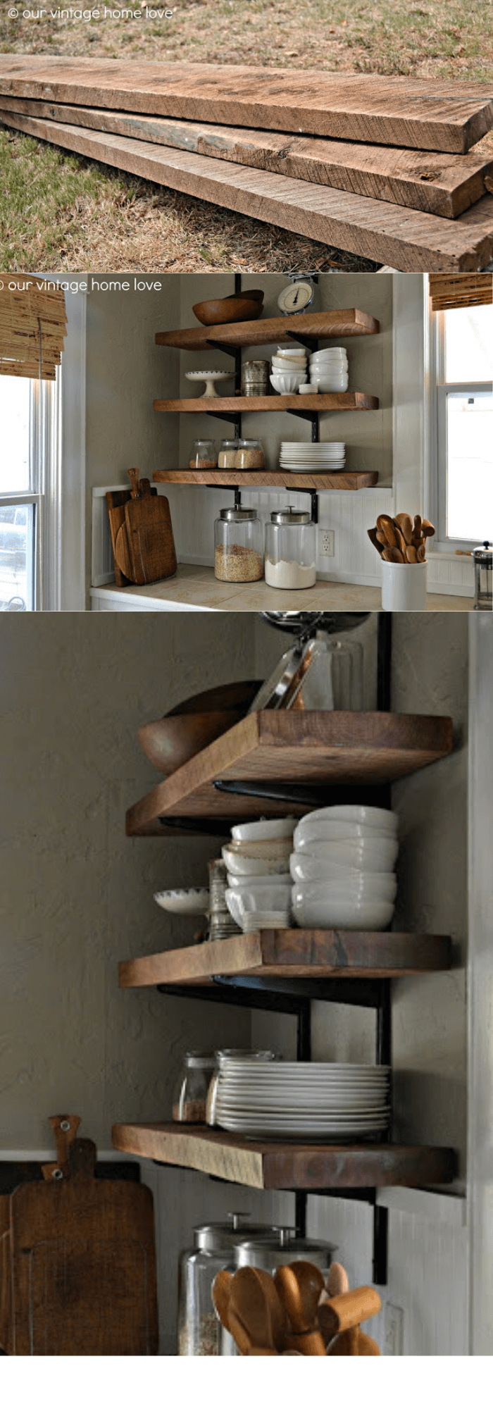 Kitchen Decor Projects With Reclaimed Wood Reclaimed Wood Kitchen Shelving