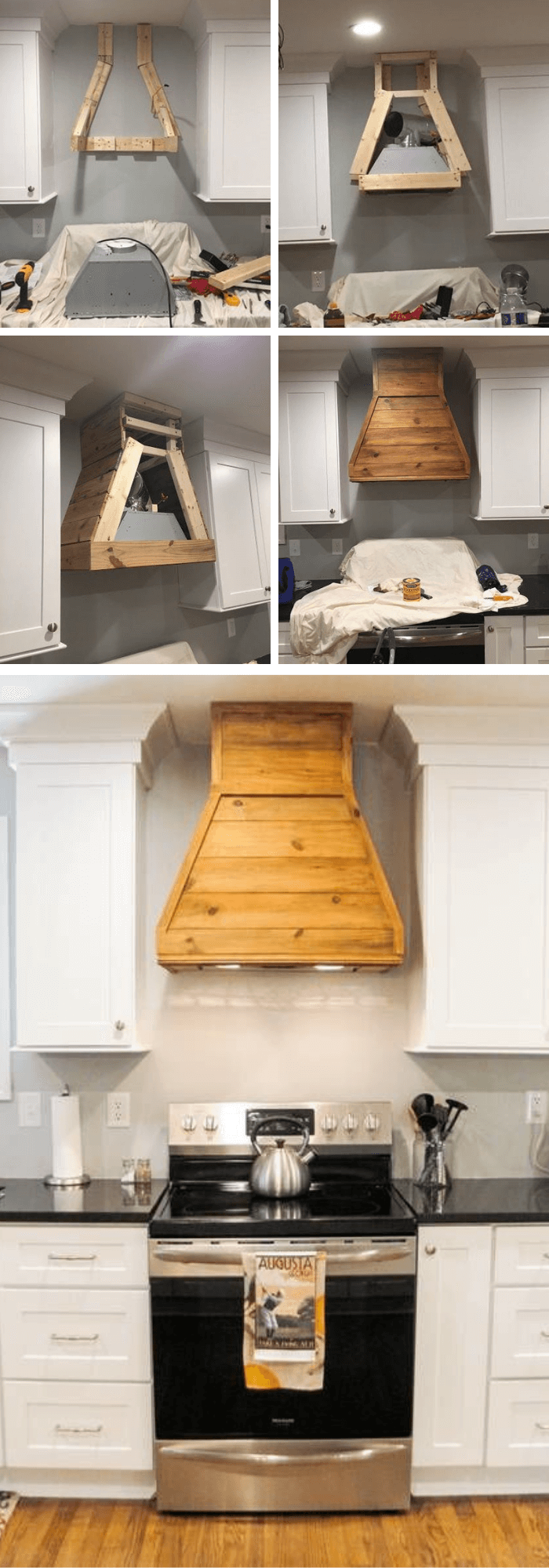 Kitchen Decor Projects With Reclaimed Wood Reclaimed Wood Vent Hood