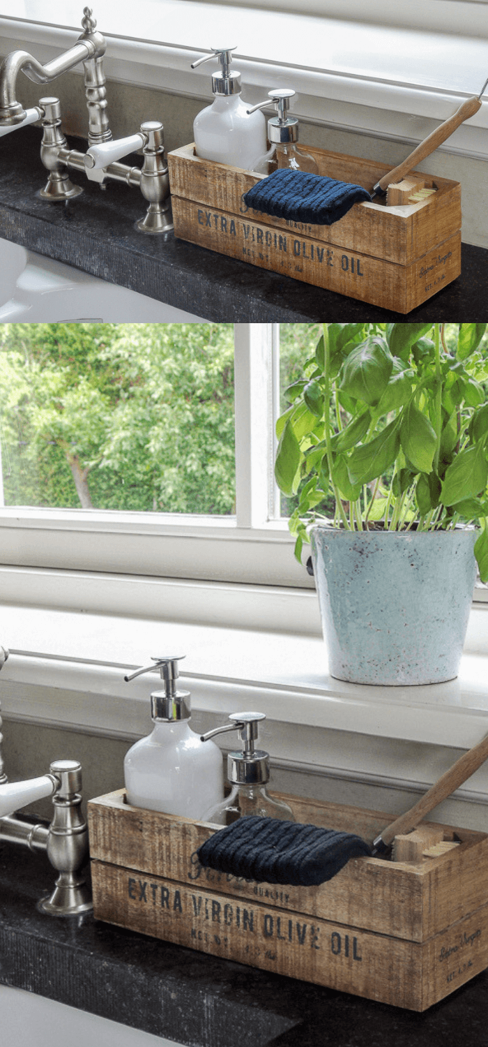 Kitchen Decor Projects With Reclaimed Wood Reclaimed wood kitchen tray for your washing up items