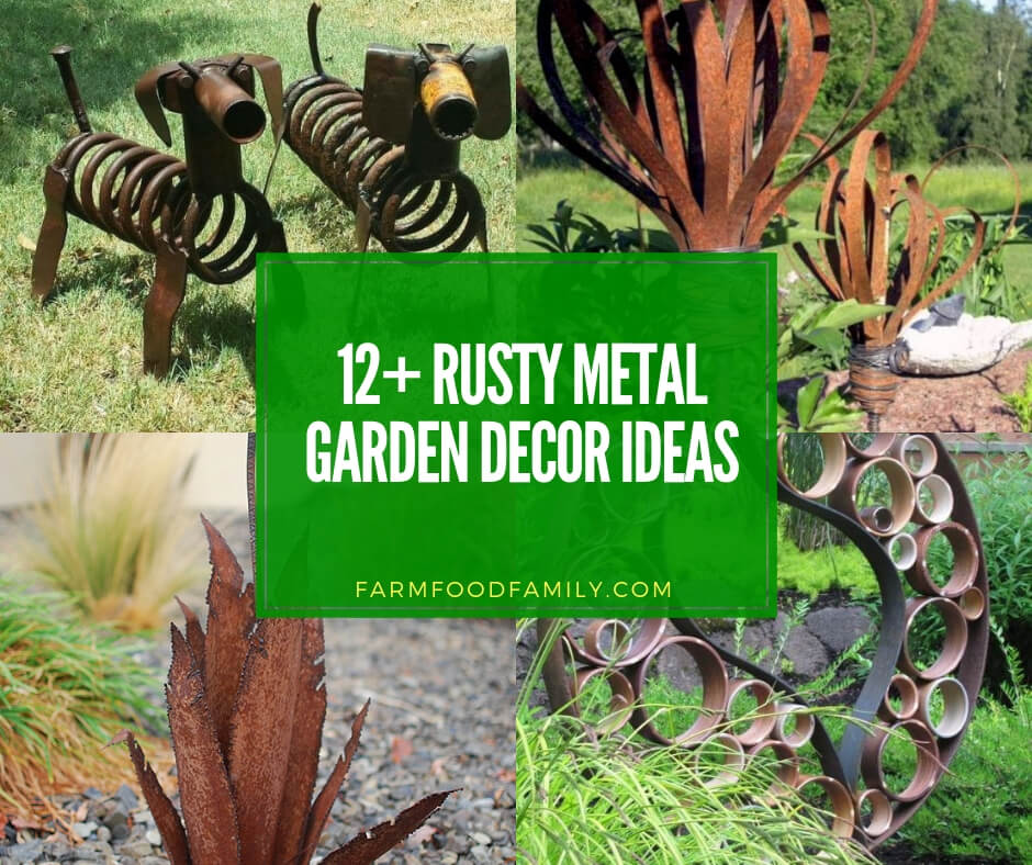 best rusty metal garden decor ideas