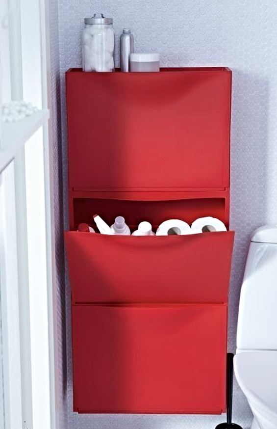 the shelf where you can store things in the bathroom