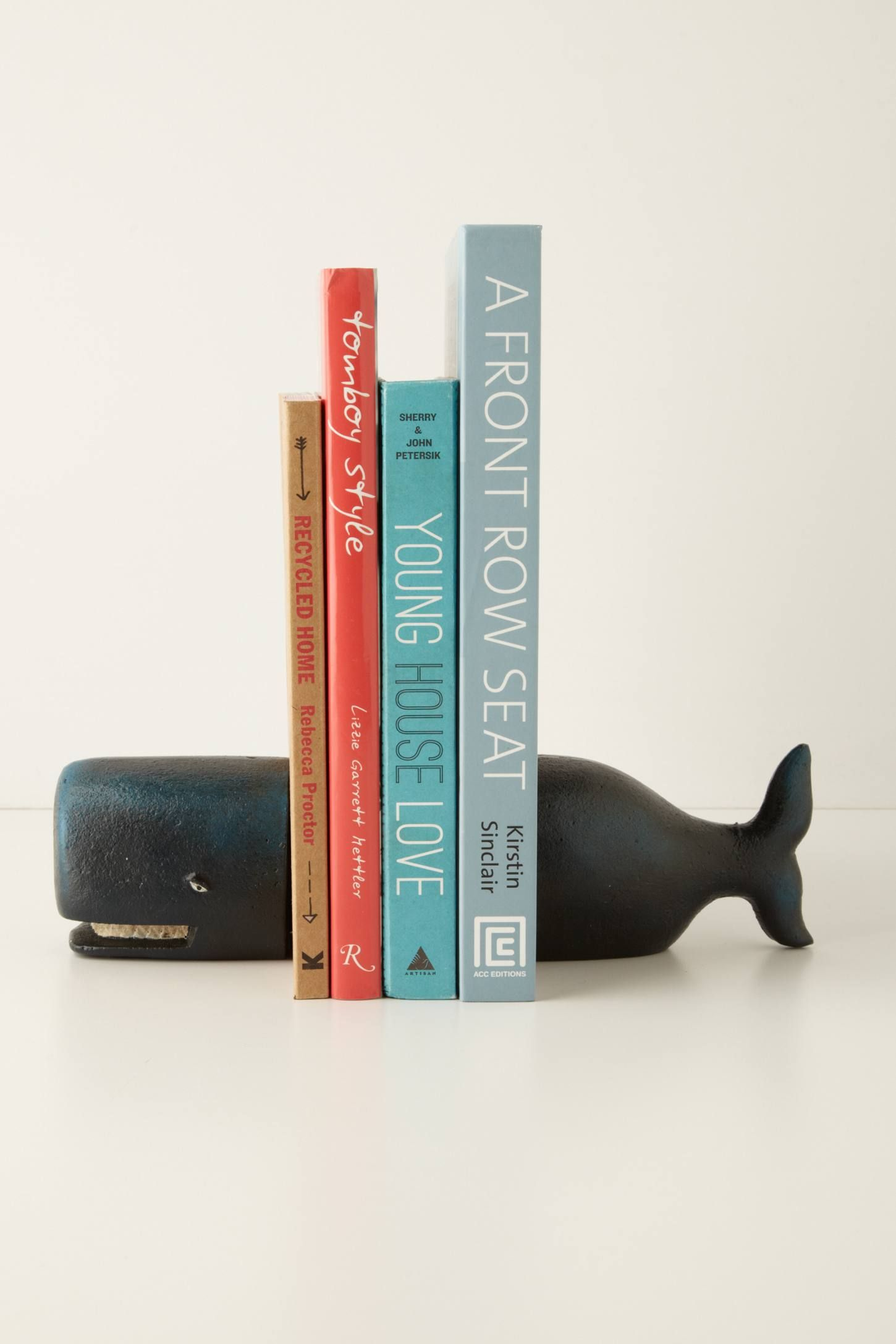 Black Whale Bookends