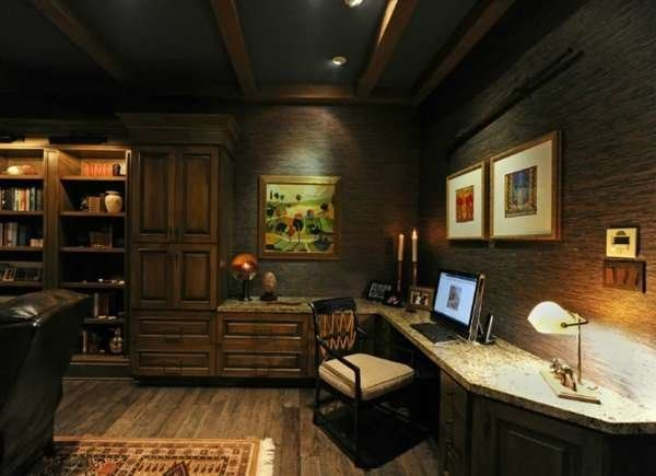 Moody man cave office