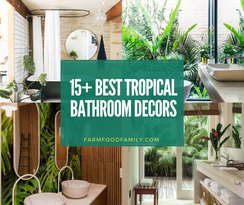 awesome tropical bathroom ideas & designs