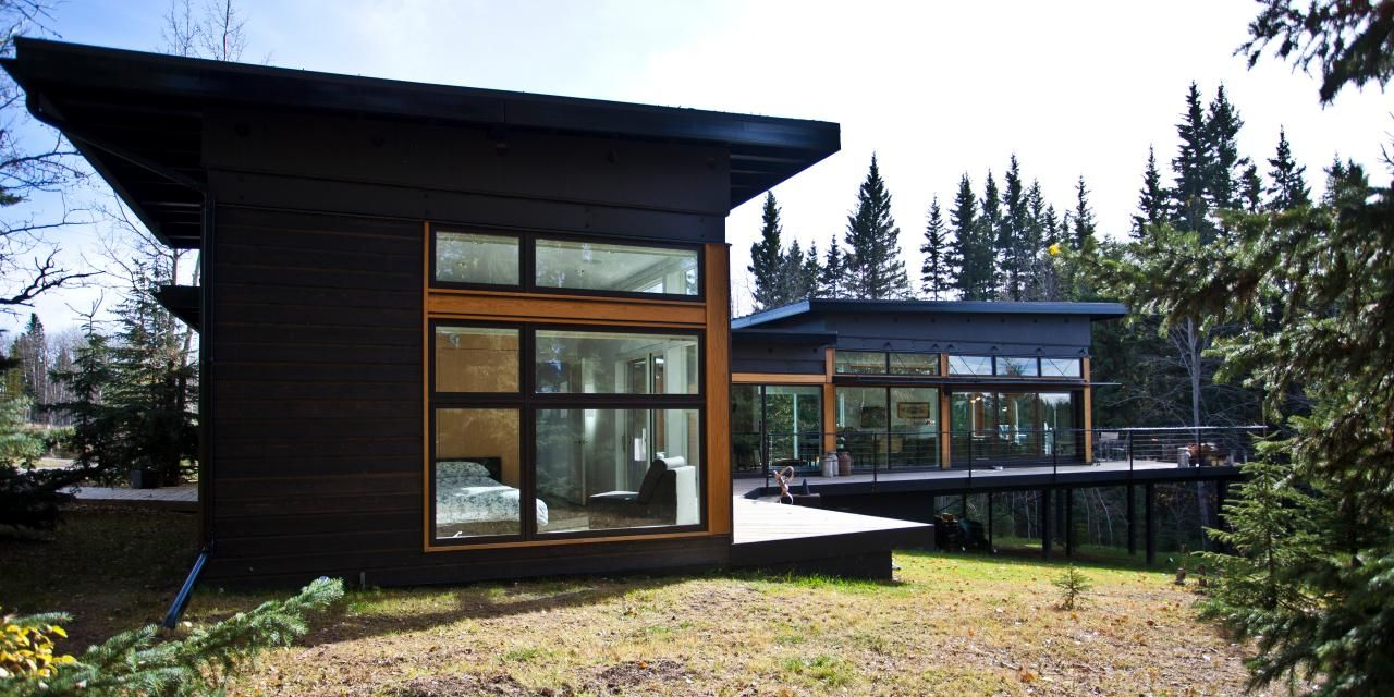 Contemporary house in black color