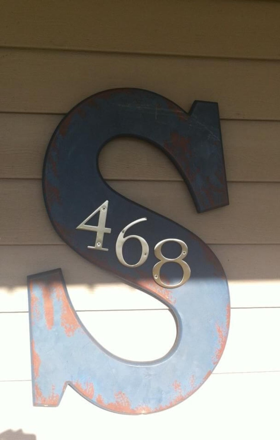 House numbers with alphabet