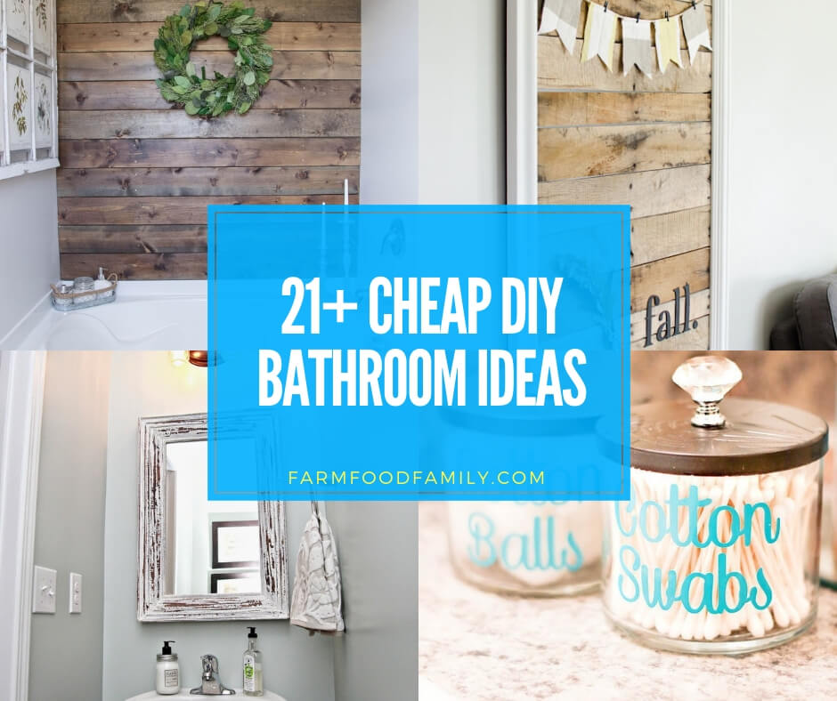 21+ Cheap And Easy DIY Bathroom Ideas & Projects For 2019