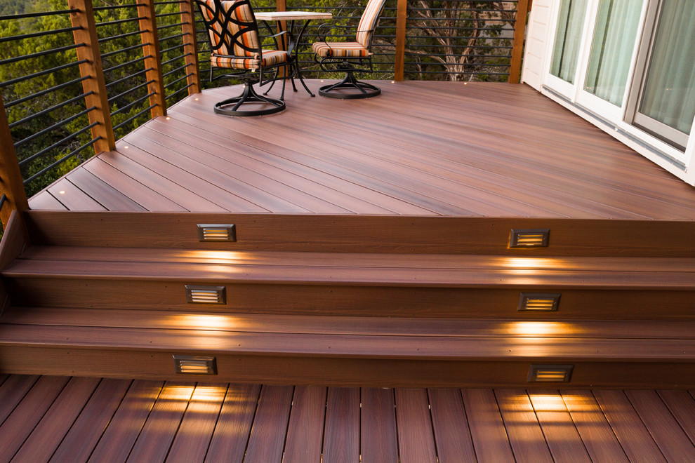 Composite decking with lighting