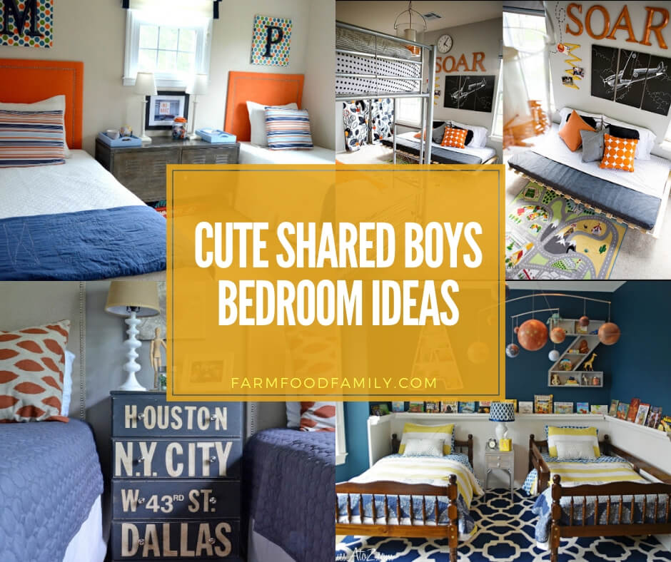 10+ Cute Shared Boys Bedroom Ideas and Designs For 2019