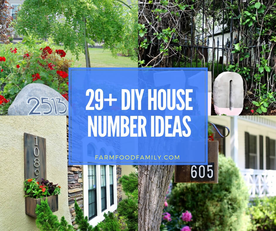 Best diy house number ideas