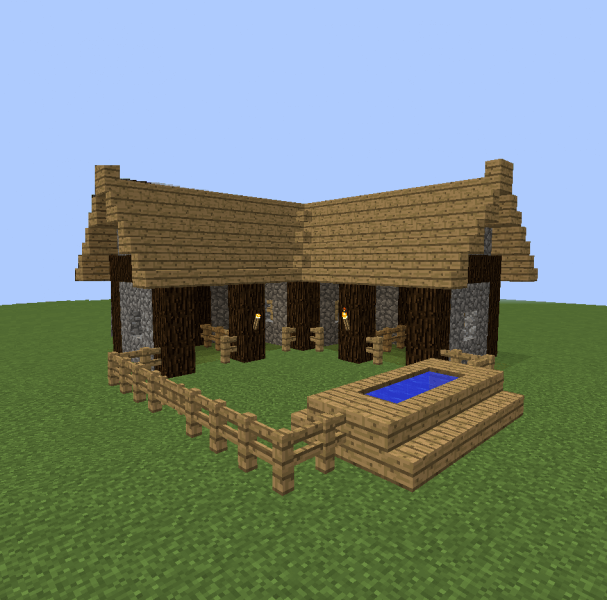 Small horse stable minecraft