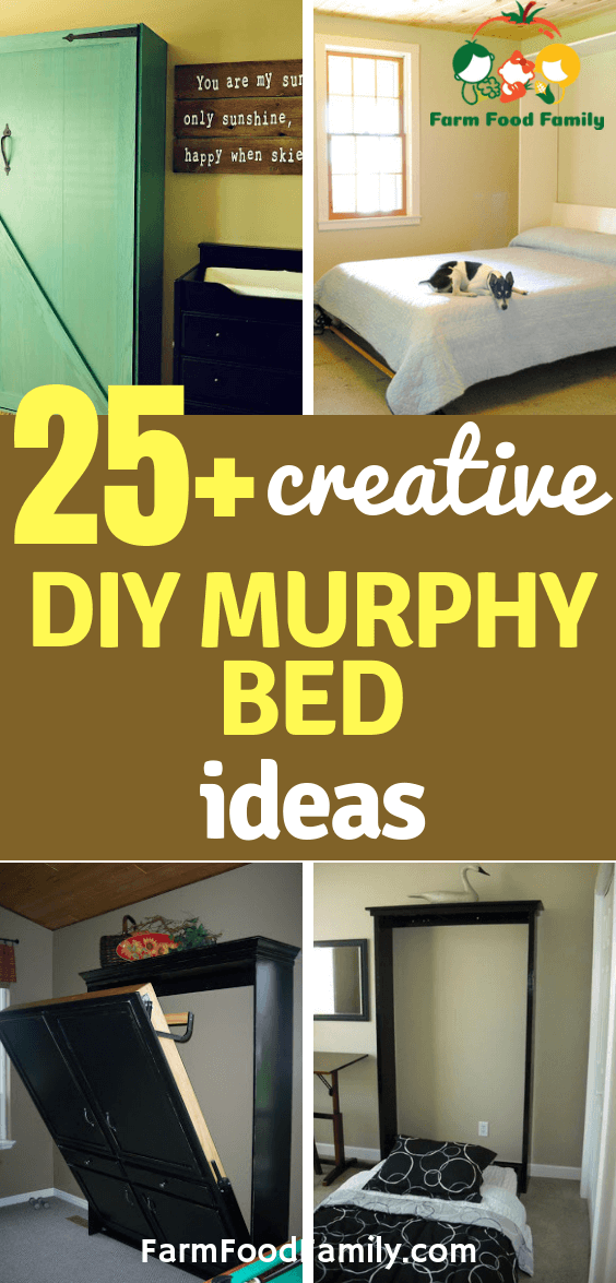 25 Creative Diy Murphy Bed Ideas And Plans For 2021