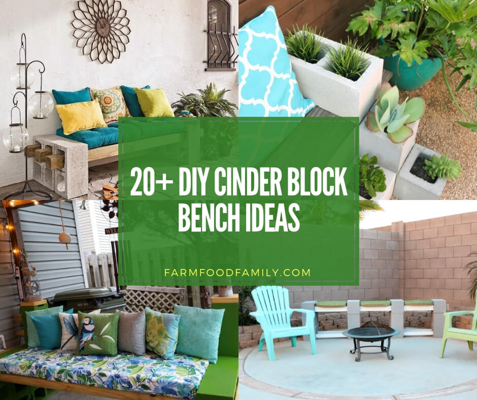 Astounding 20 Best Outdoor Cinder Block Bench Ideas Designs For 2019 Squirreltailoven Fun Painted Chair Ideas Images Squirreltailovenorg