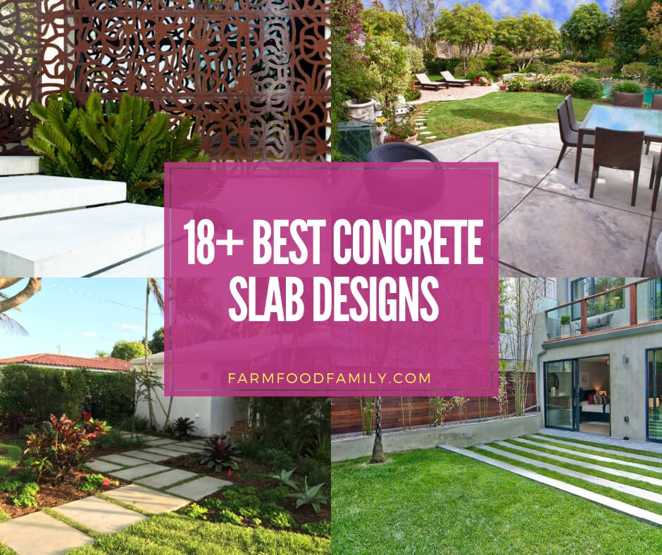 best concrete slab designs and ideas