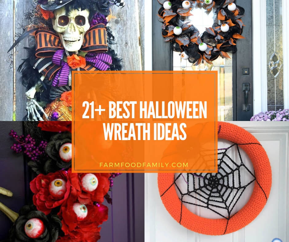 21+ Spooky DIY Halloween Wreath Ideas And Designs For 2020