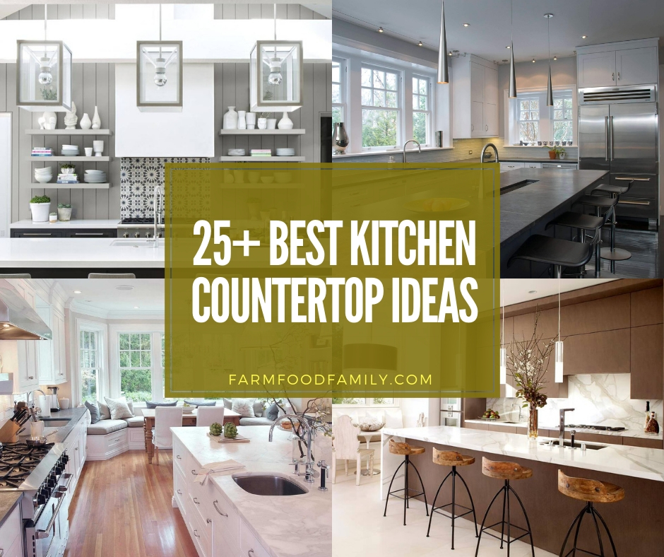 best kitchen countertop ideas and designs