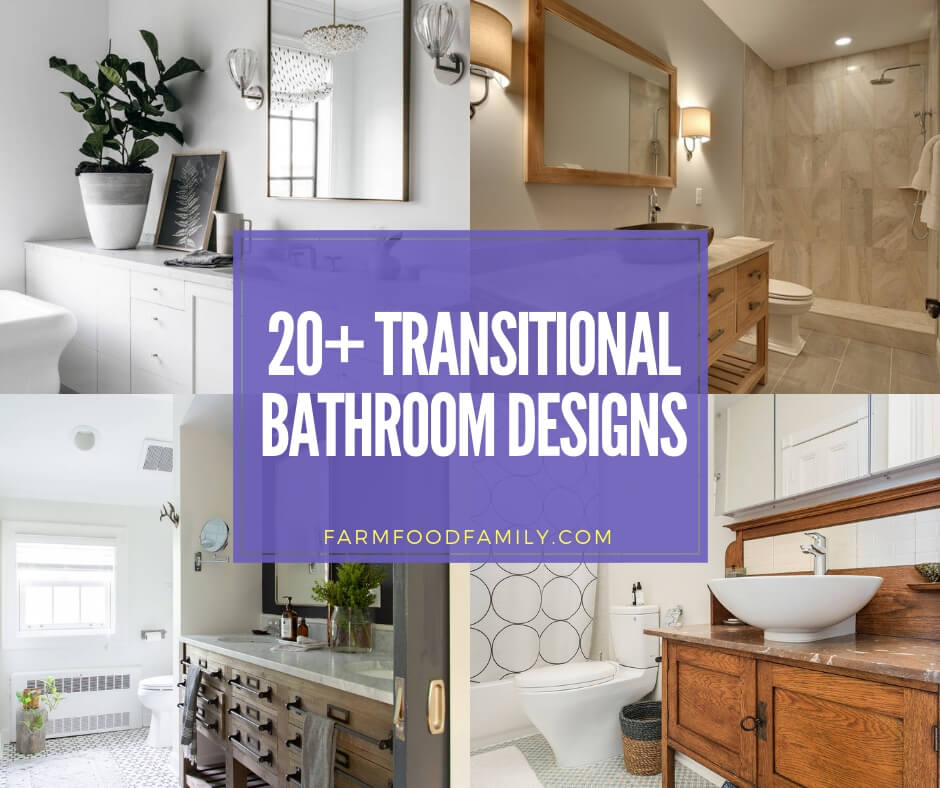 best transitional bathroom designs