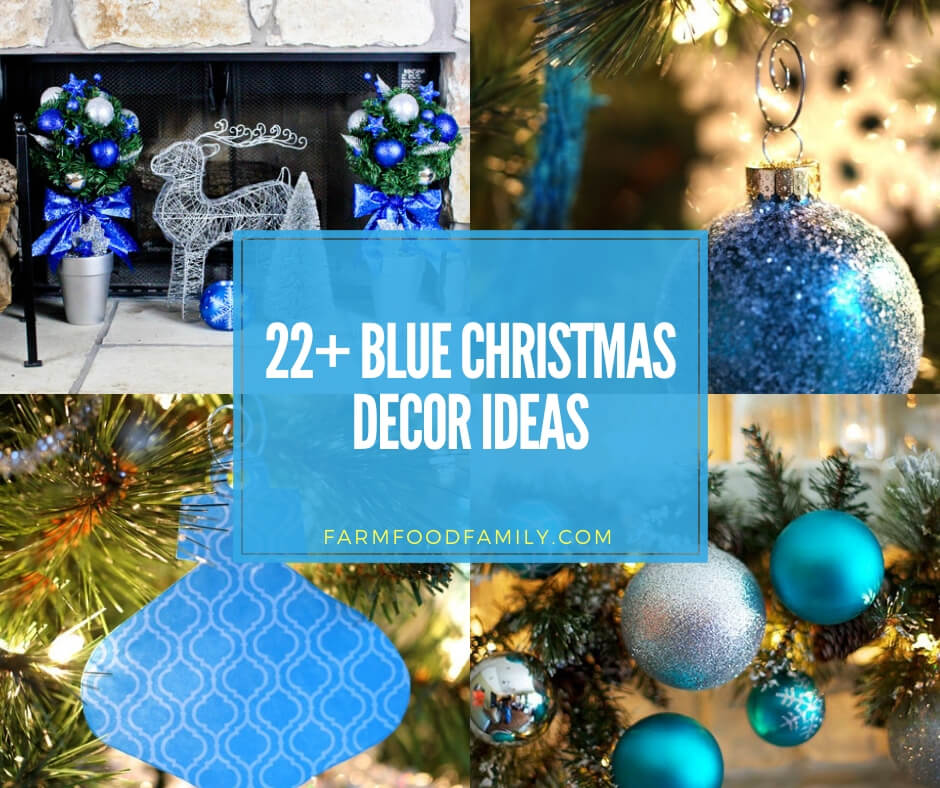 best blue Christmas decorating ideas