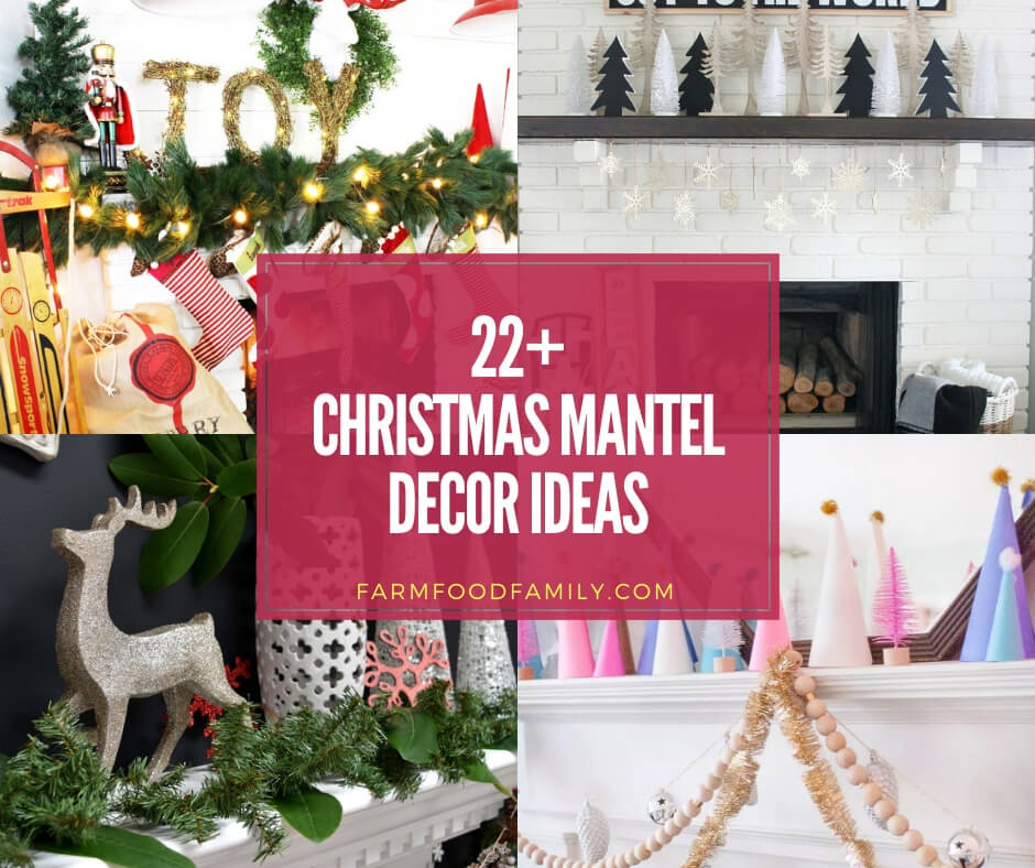 22+ Creative Christmas Mantel Decor Ideas & Designs For 2020