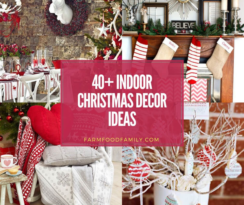 Indoor Christmas Decorations.40 Beautiful Indoor Decoration Ideas Designs For