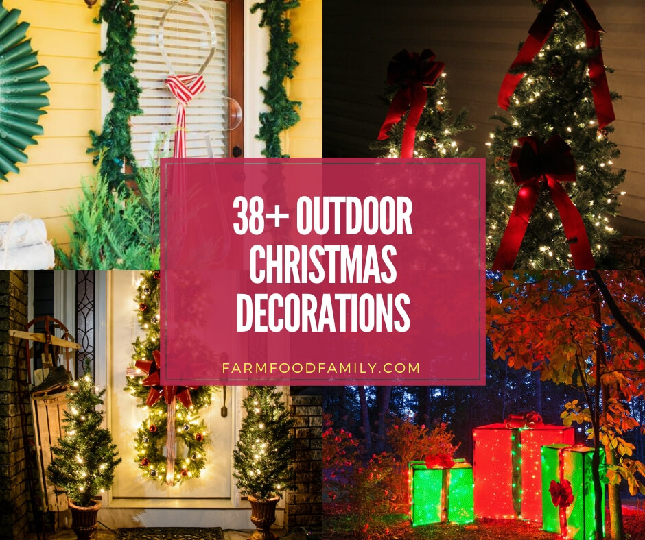 Outdoor Christmas Decorations Ideas 2019.38 Beautiful Diy Outdoor Christmas Decorations Ideas