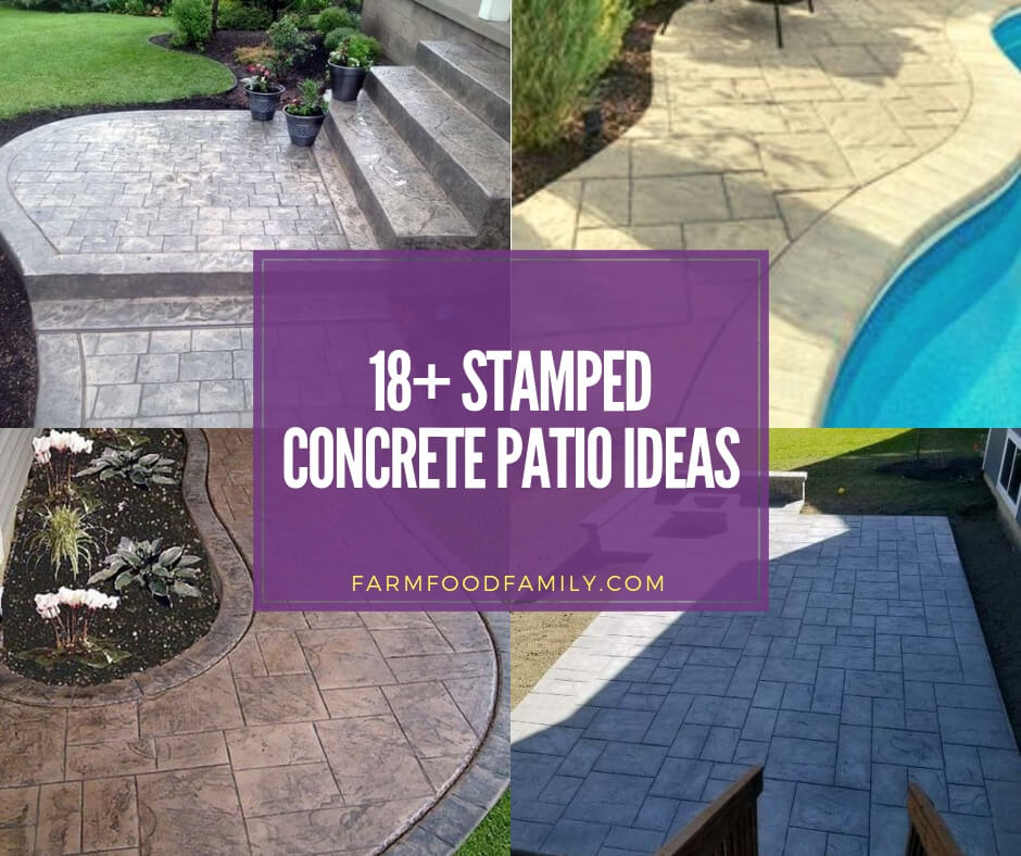18 Inspiring Stamped Concrete Patio Ideas Designs For 2020