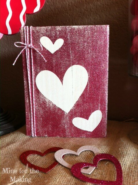 The wood scrapbook covers