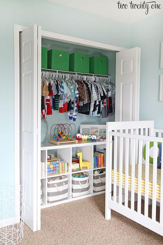 Use your closet - Clever DIY Toy Storage & Organization Ideas & Projects For Kids