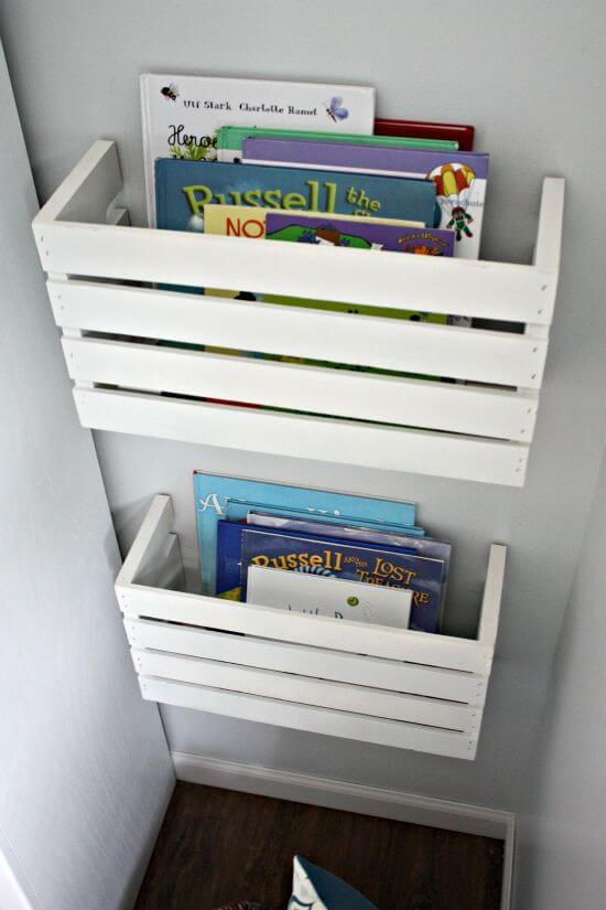 Use crates - Clever DIY Toy Storage & Organization Ideas & Projects For Kids
