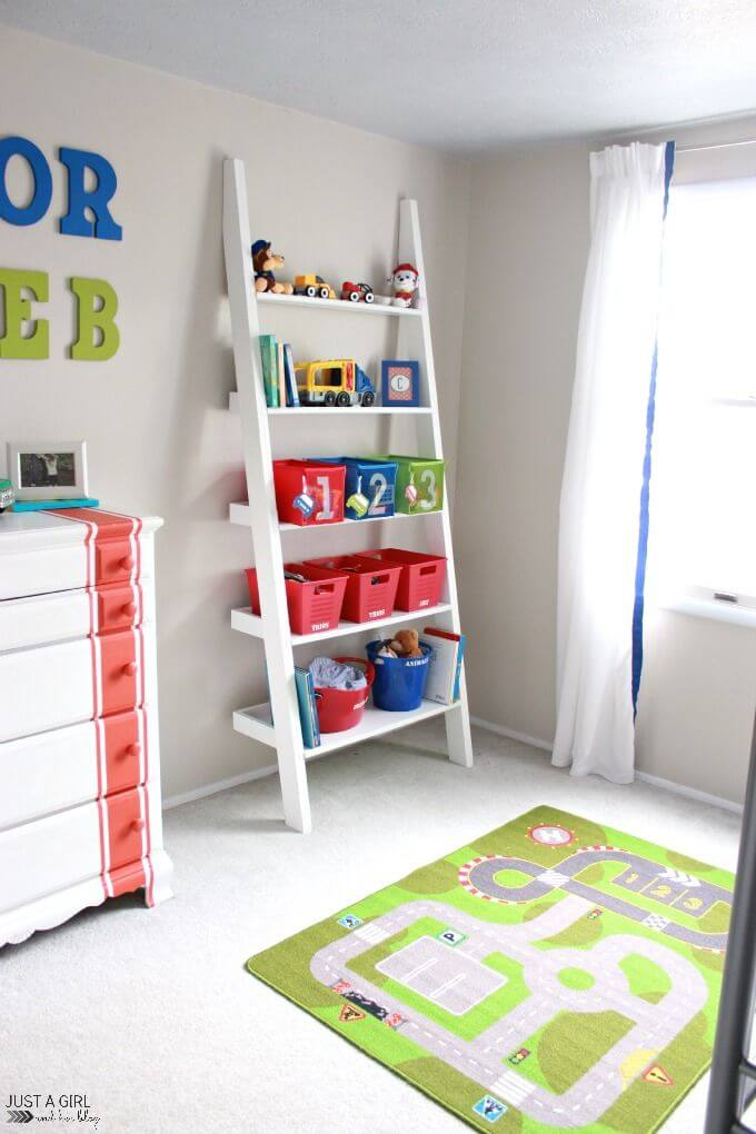Ladder - Clever DIY Toy Storage & Organization Ideas & Projects For Kids