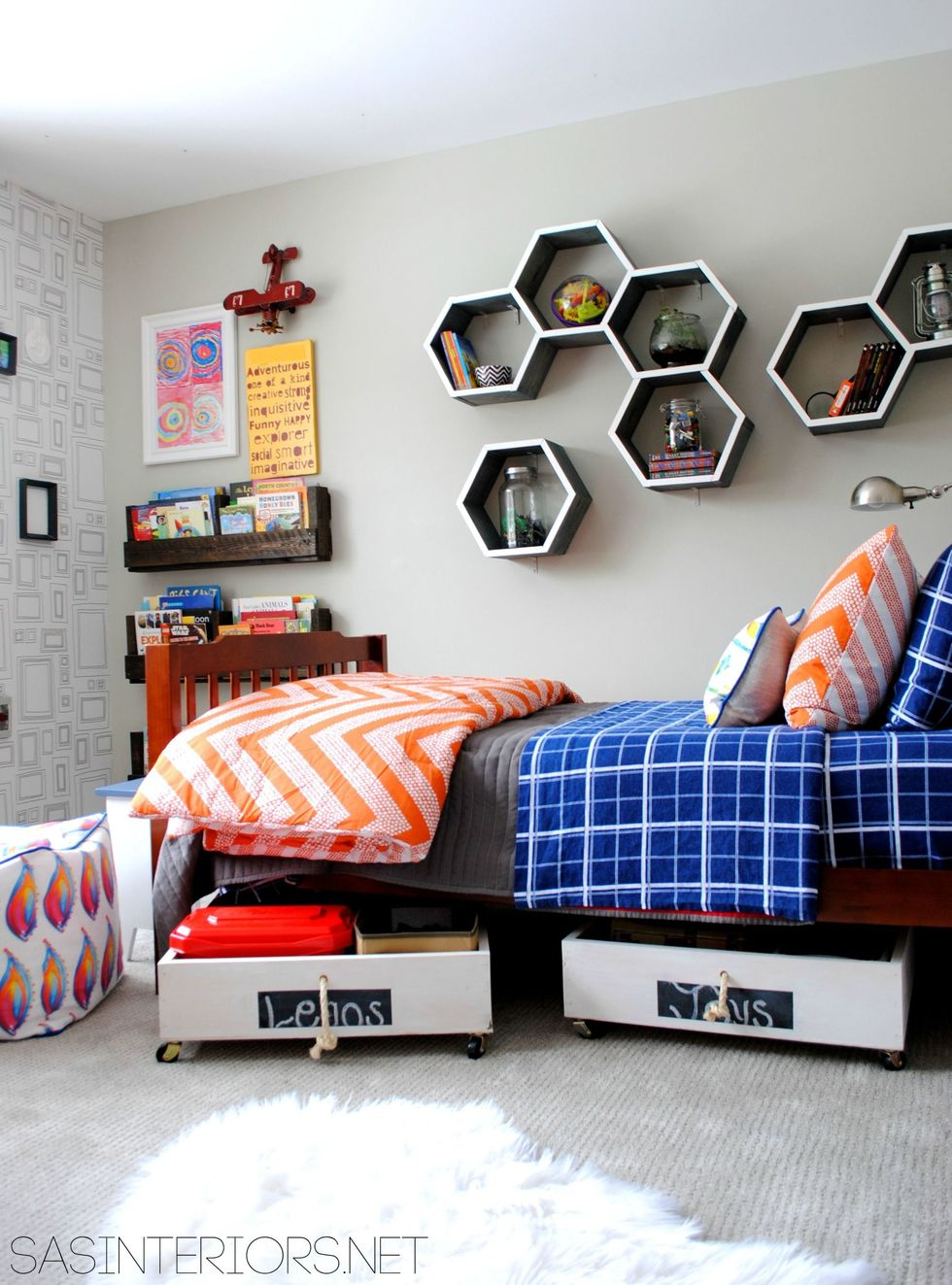 The under-bed drawers - Clever DIY Toy Storage & Organization Ideas & Projects For Kids