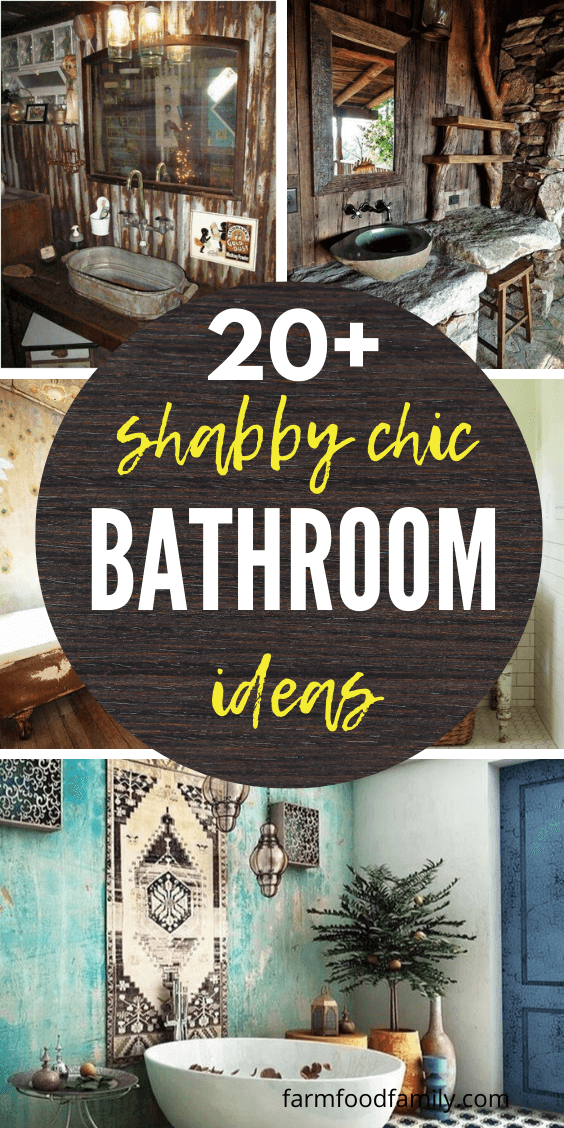 20+ Best Shabby Chic Bathroom Ideas & Projects