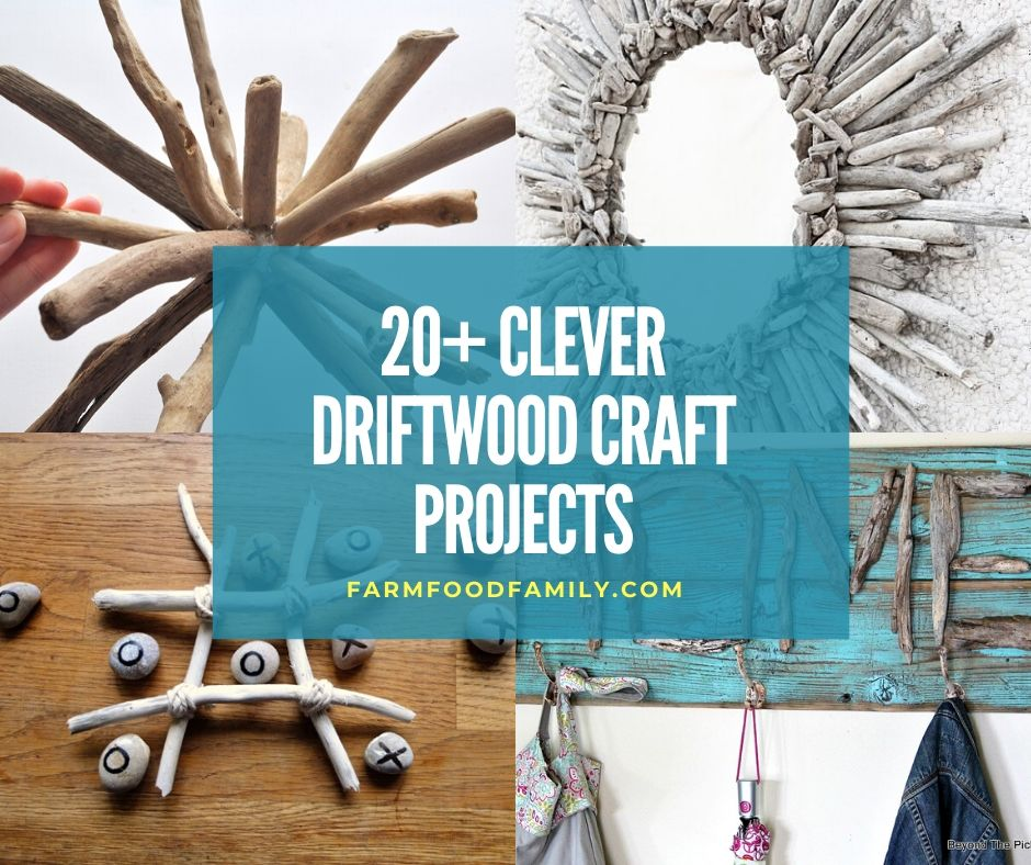 20 Clever And Easy Diy Driftwood Craft Projects Ideas With