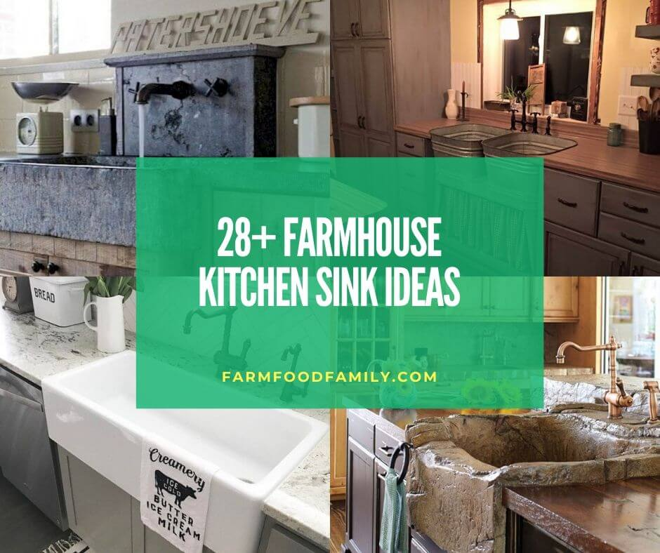 28+ Stunning Farmhouse Kitchen Sink Ideas & Designs For 2019