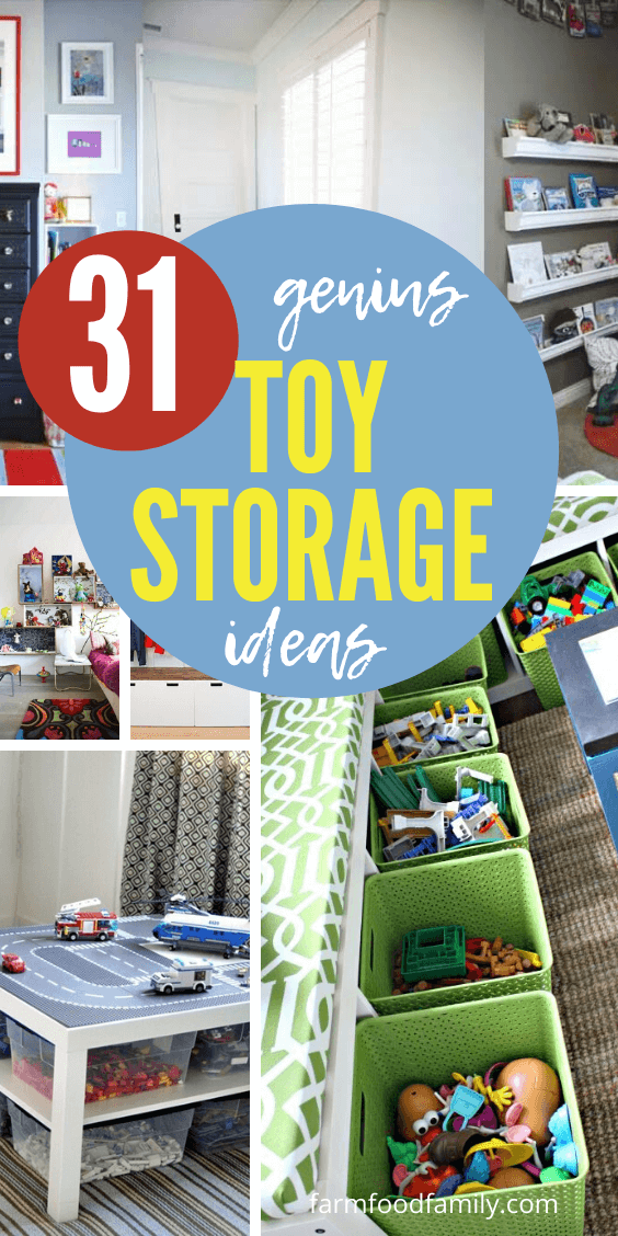 31+ Clever Toy Storage Projects That Your Kids Will Love