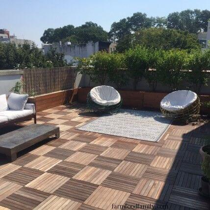Wood Patio Tiling