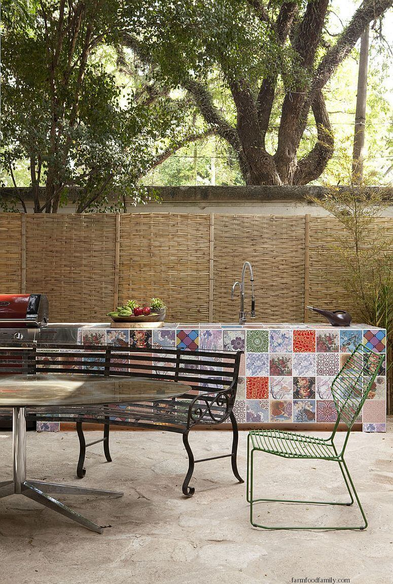 Patchwork Tiles on Patio Idea