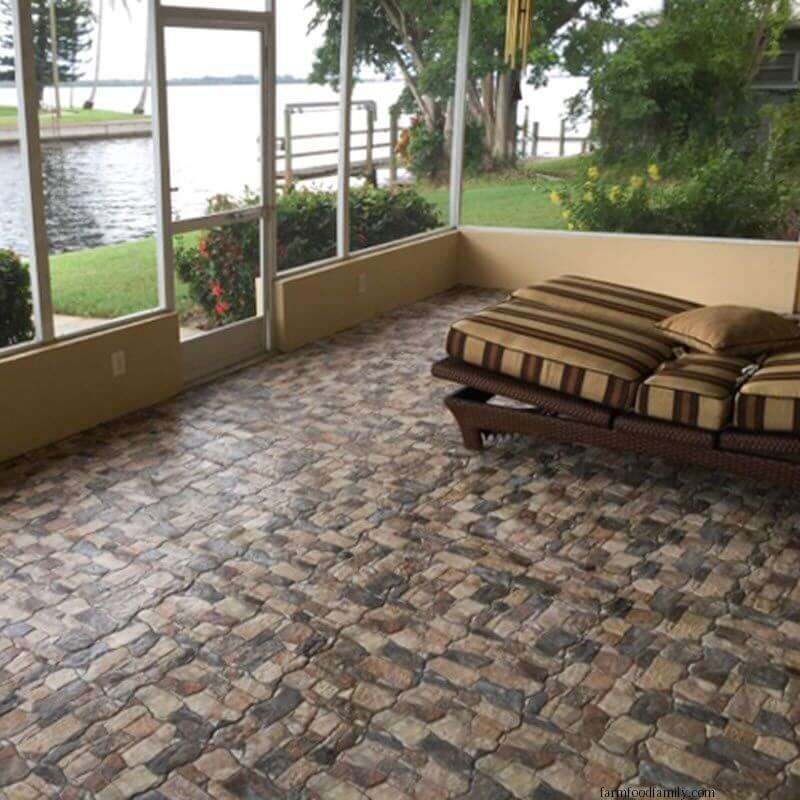 Stone Tile Patio Looks