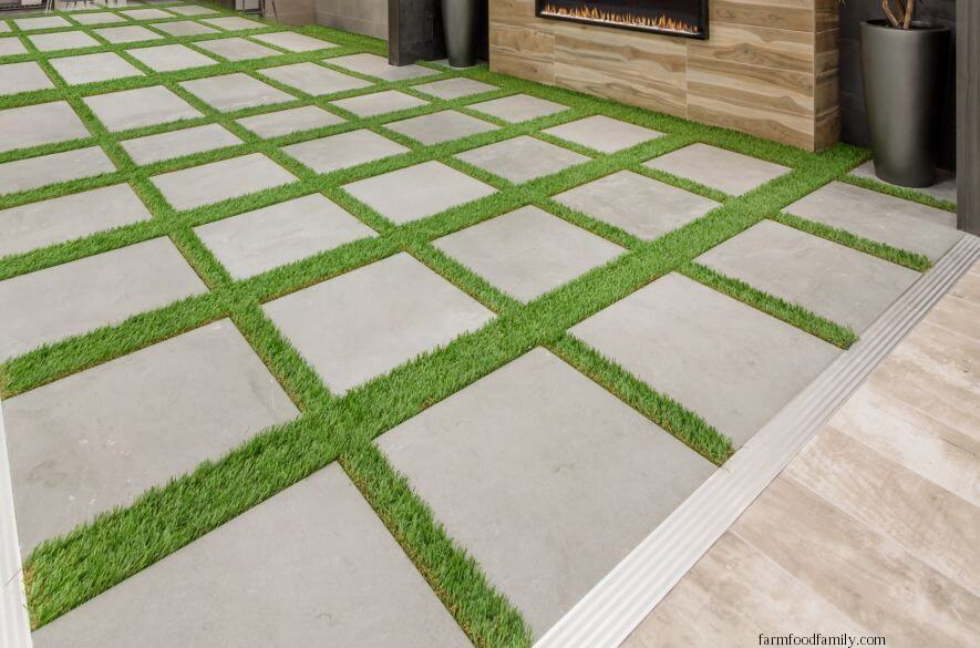 Contemporary Square Patio Tile