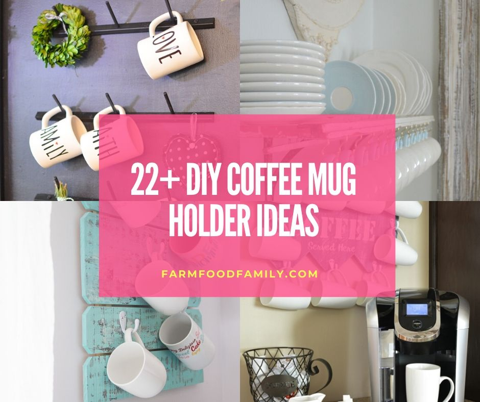 Coffee mug holder ideas - How to make a coffee mug holder