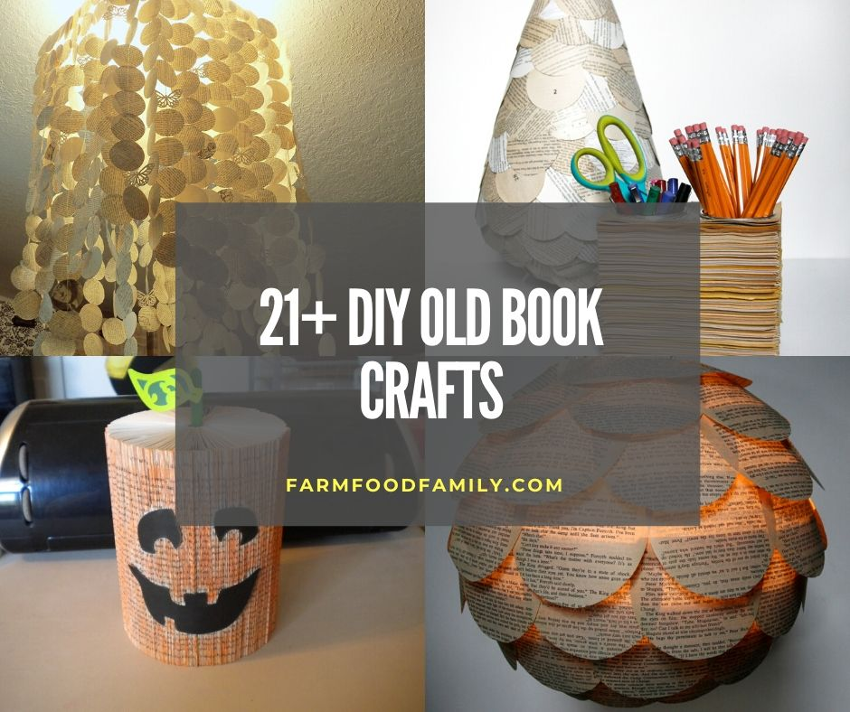 21 Creative Diy Old Book Craft Ideas Projects With Instructions