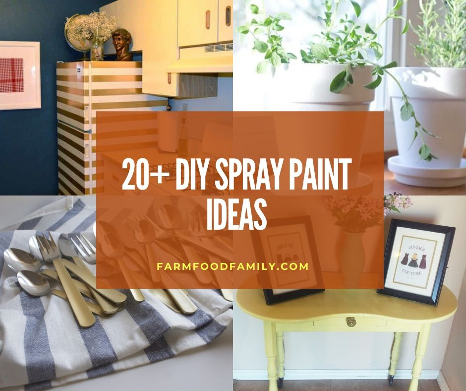 20+ Cool and Easy Spray Paint Ideas & Techniques For 2020