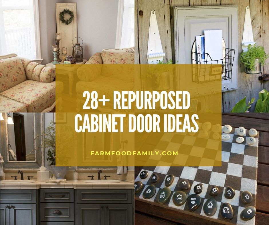 28 Creative Repurposed Cabinet Door Ideas Projects With